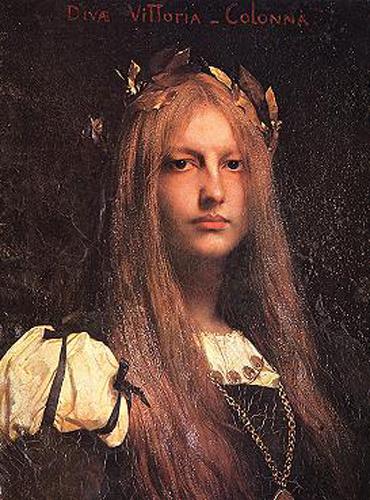 Jules Joseph Lefebvre. Portrait Of Victoria Of The Column