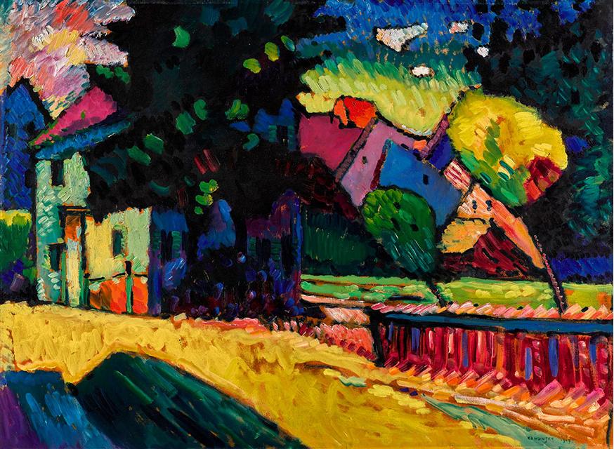Wassily Kandinsky. Murnau. Landscape with green house