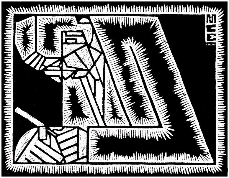 Мауриц Корнелис Эшер. Отец с увеличительным стеклом