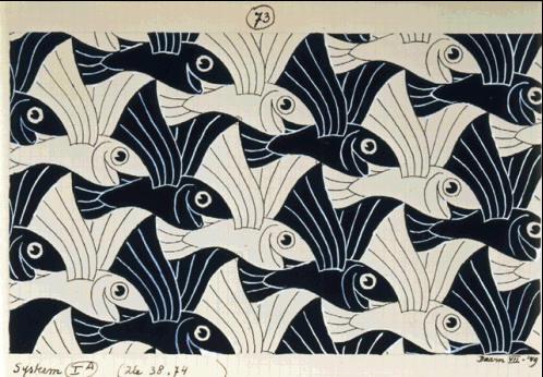 Мауриц Корнелис Эшер. Рыбы8