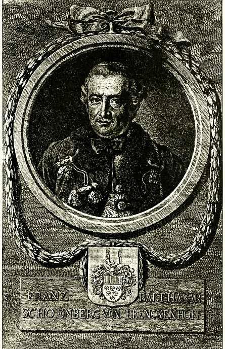 Даниэль  Николай Ходовецкий. Портрет Шенберга фон Бренкенхофа