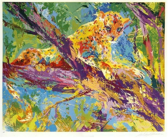 Leroy Neiman. Leopard
