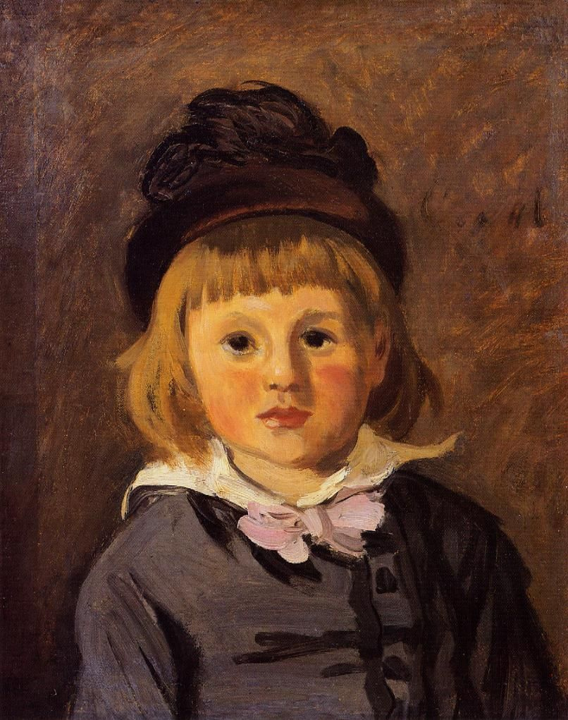 Claude Monet. Portrait of Jean Monet in the cap with pompon