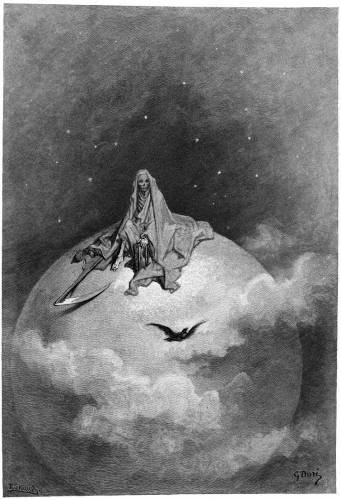 "Paul Gustave Dore. Illustration for the poem by Edgar Allan PoE ""the Raven"""