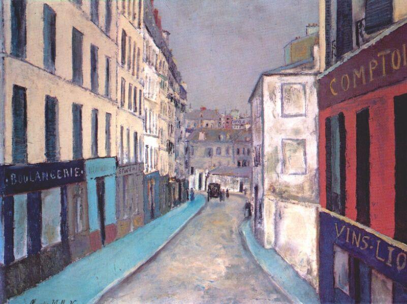 Морис Утрилло. Улица Маркаде, Париж