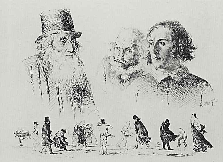 Адольф фон Менцель. Головы и фигуры