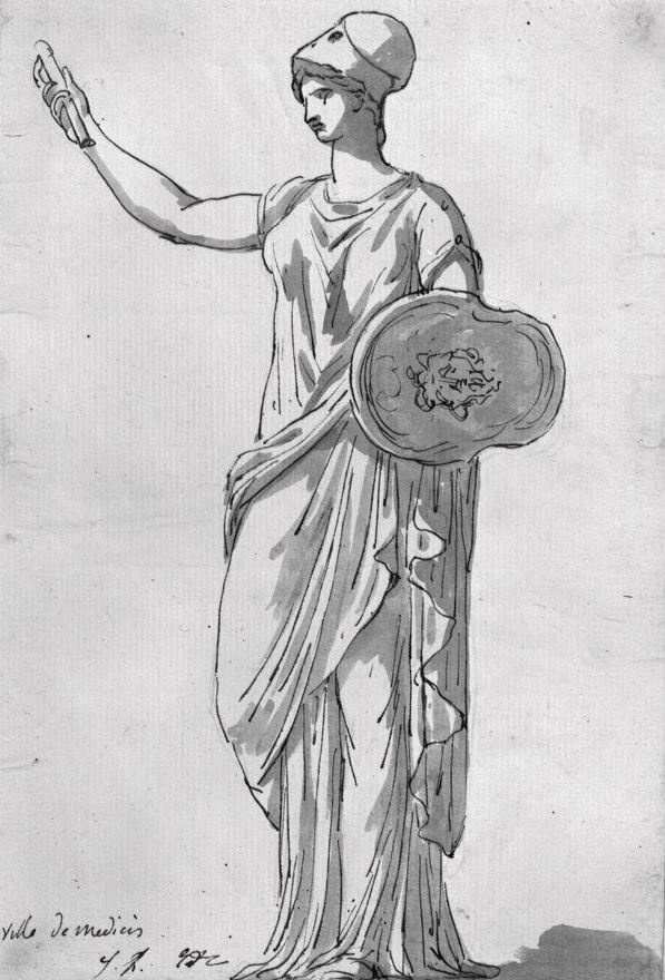 Jacques-Louis David. Athena