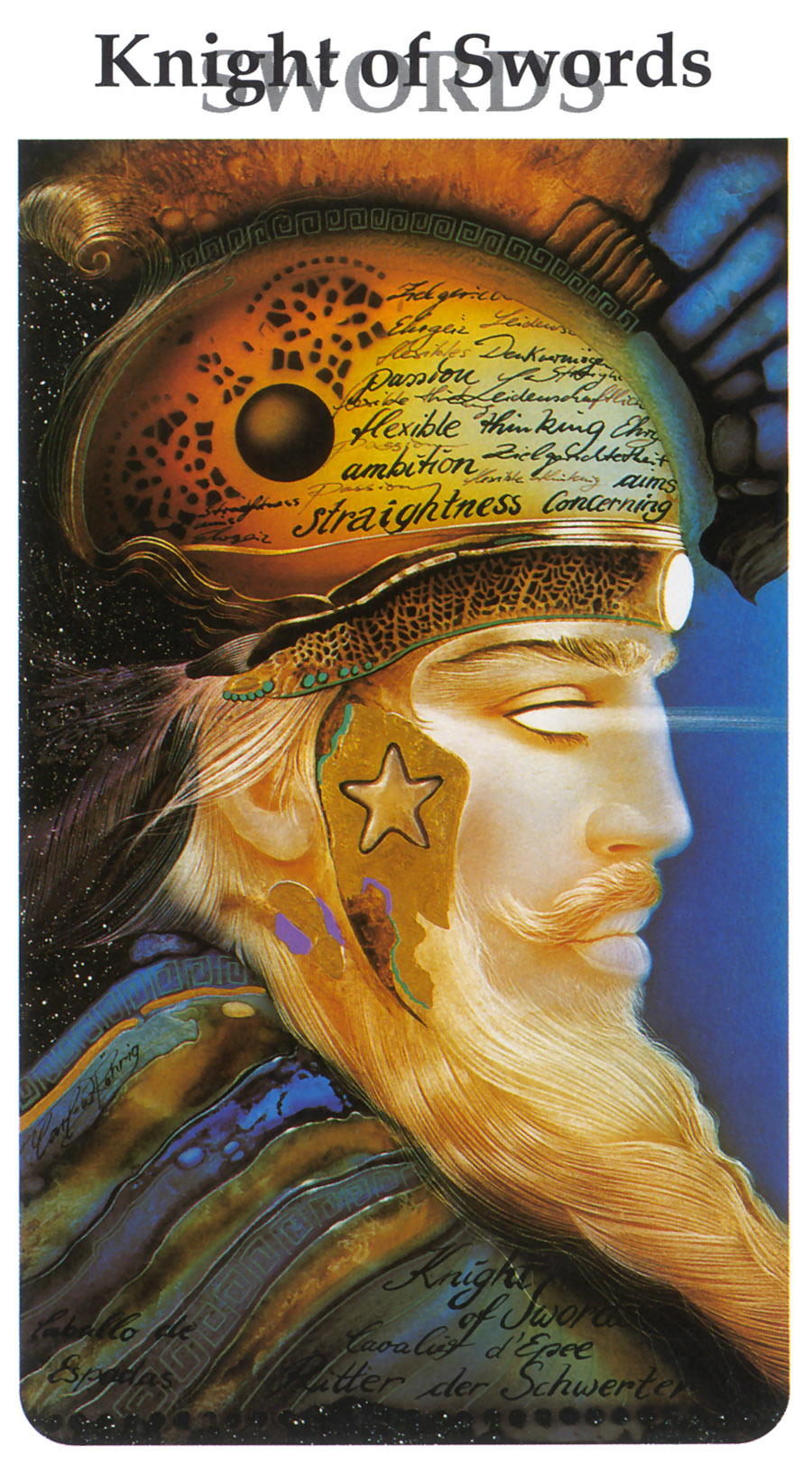 Karl Rohrig. Tarot Of The Third Millennium. The King Of Swords