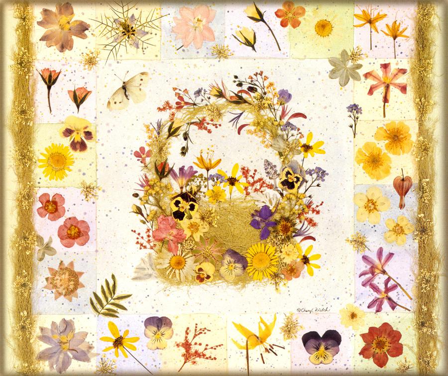 Cheryl Welch. Floral motif 7