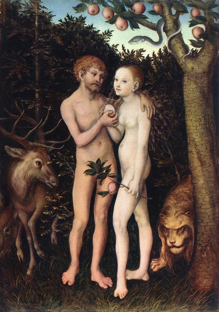 Лукас Кранах Старший. Адам и Ева 1533