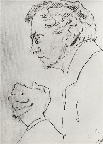 Валентин Александрович Серов. Портрет артиста В. И. Качалова