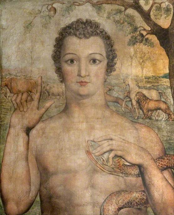William Blake. Adam giving names to the animals