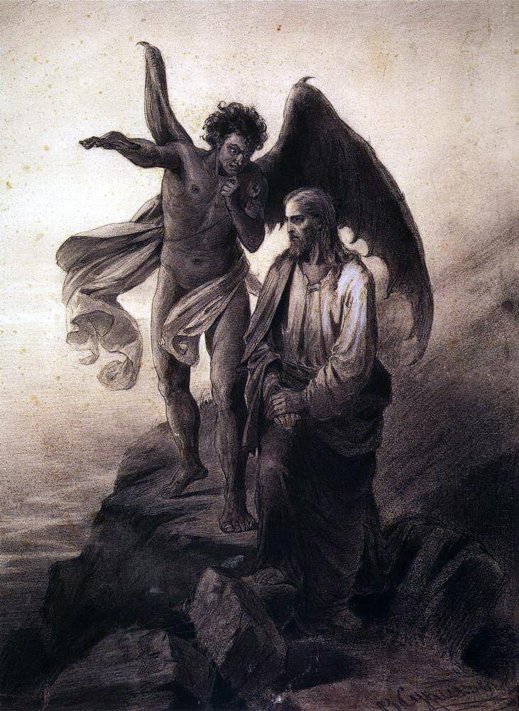 Василий Иванович Суриков. Искушение Христа
