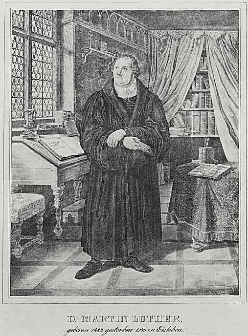 """Адольф фон Менцель. Иллюстрации к книге """"Жизнь Лютера"""", Доктор Мартин Лютер в своем кабинете"""