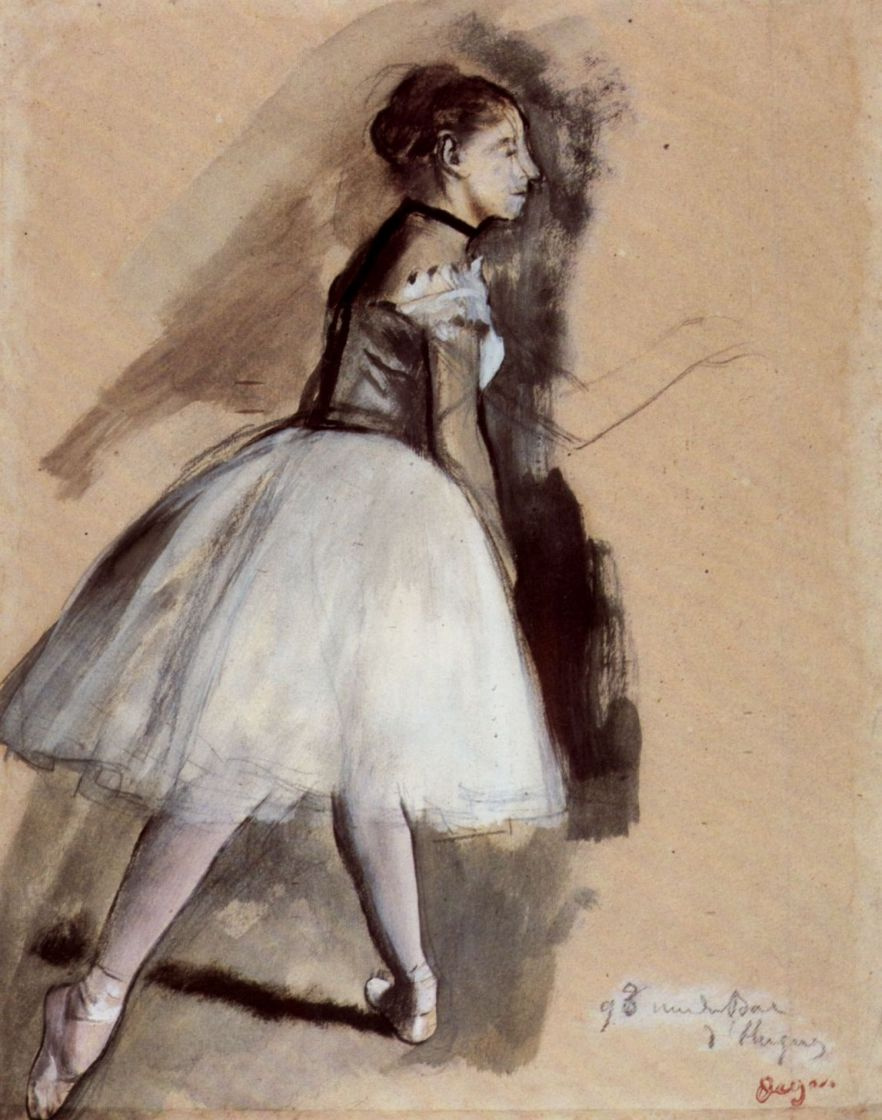 Edgar Degas. Ballet dancer in position
