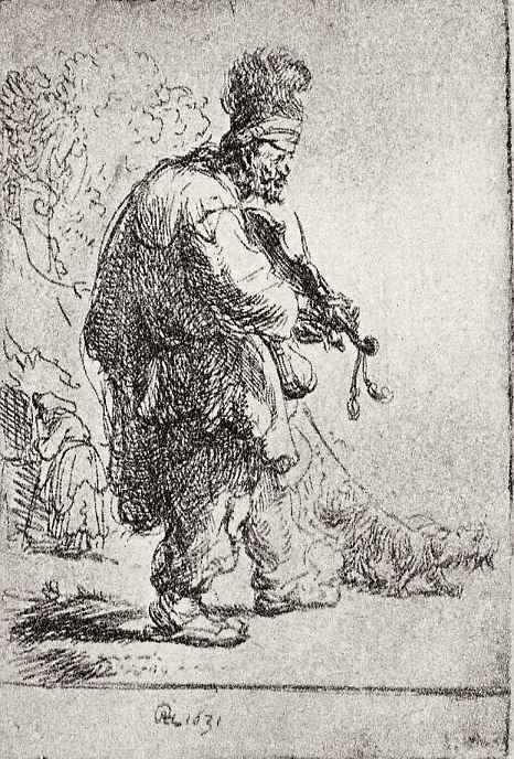 Рембрандт Харменс ван Рейн. Слепой скрипач