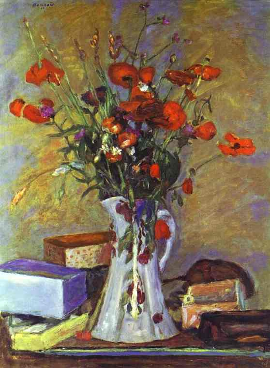 Пьер Боннар. Белая ваза с цветами
