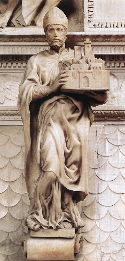 Микеланджело Буонарроти. Св. Петроний.