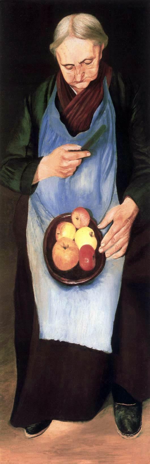 Tivadar Kostka Chontvari. Old woman with apples