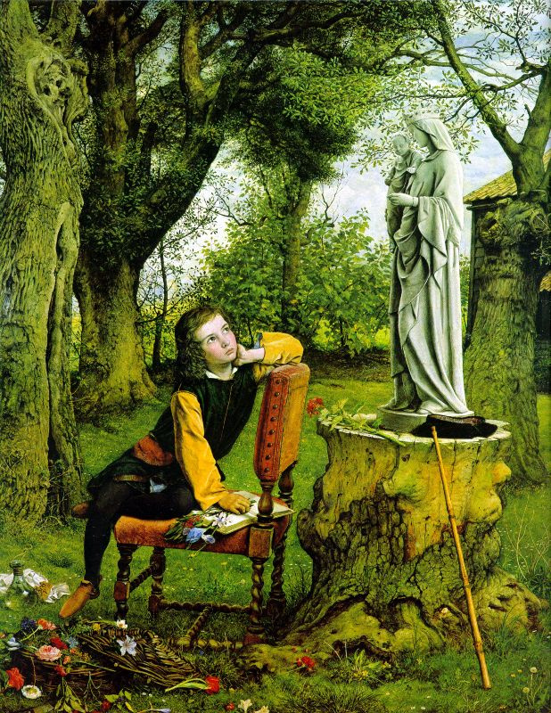 Уильям Дайс. Скульптура в саду