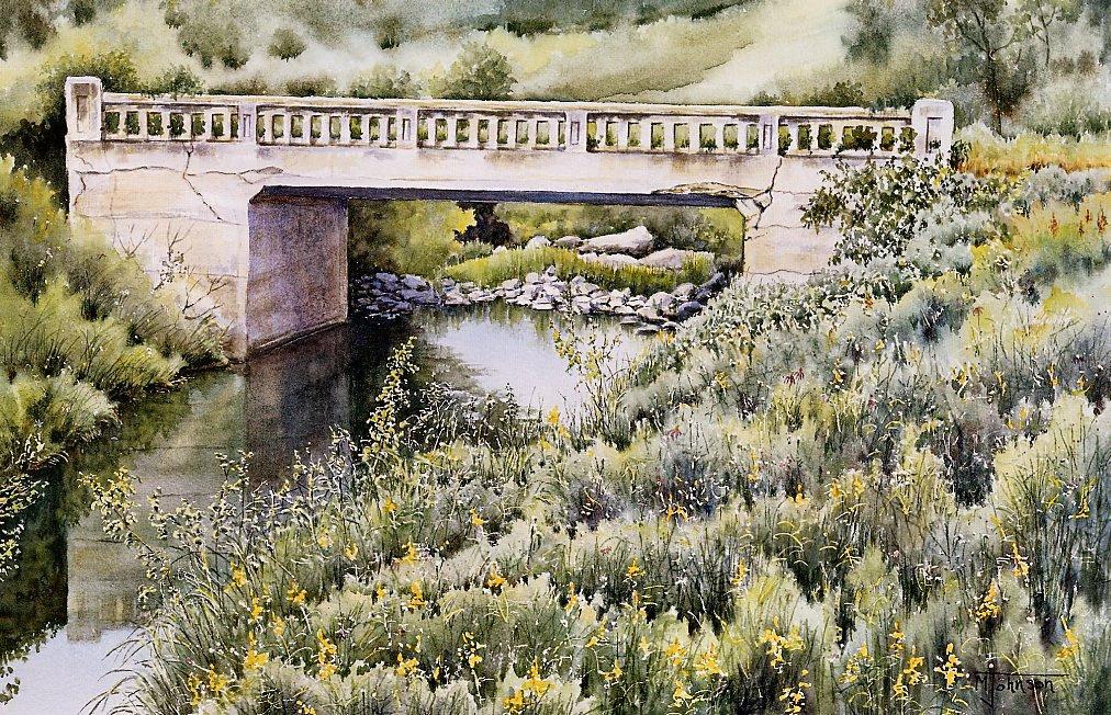 Морин Джонсон. Старый мост в долине