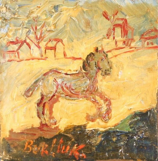 Давид Давидович Бурлюк. Лошадь скачет по улице