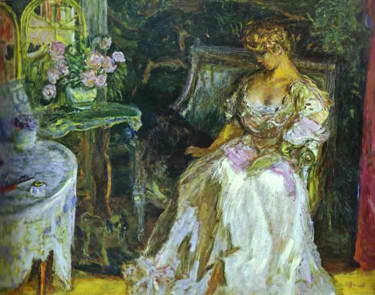 Пьер Боннар. Женщина в белом платье