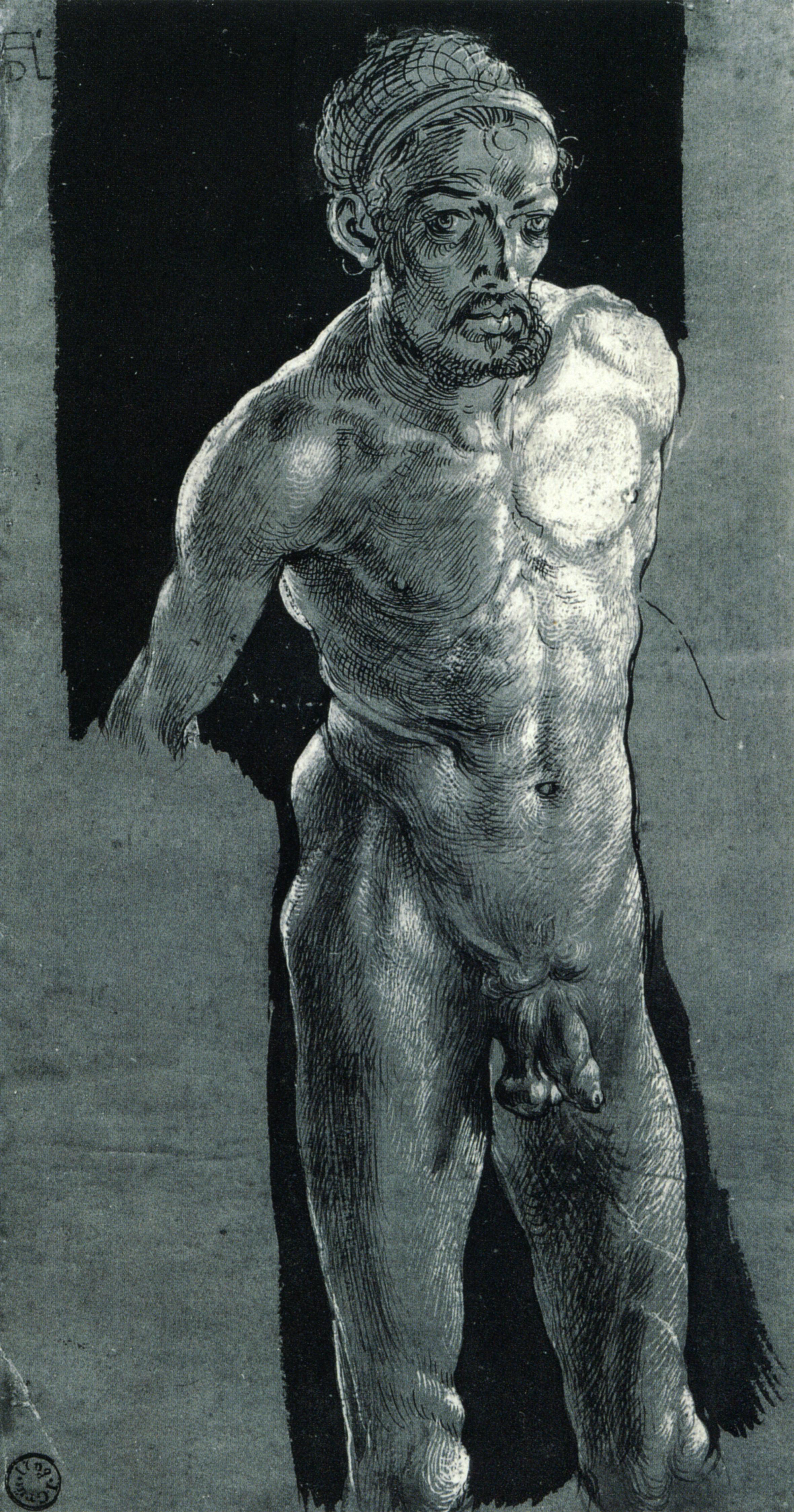 Albrecht Durer. Self-portrait in the Nude