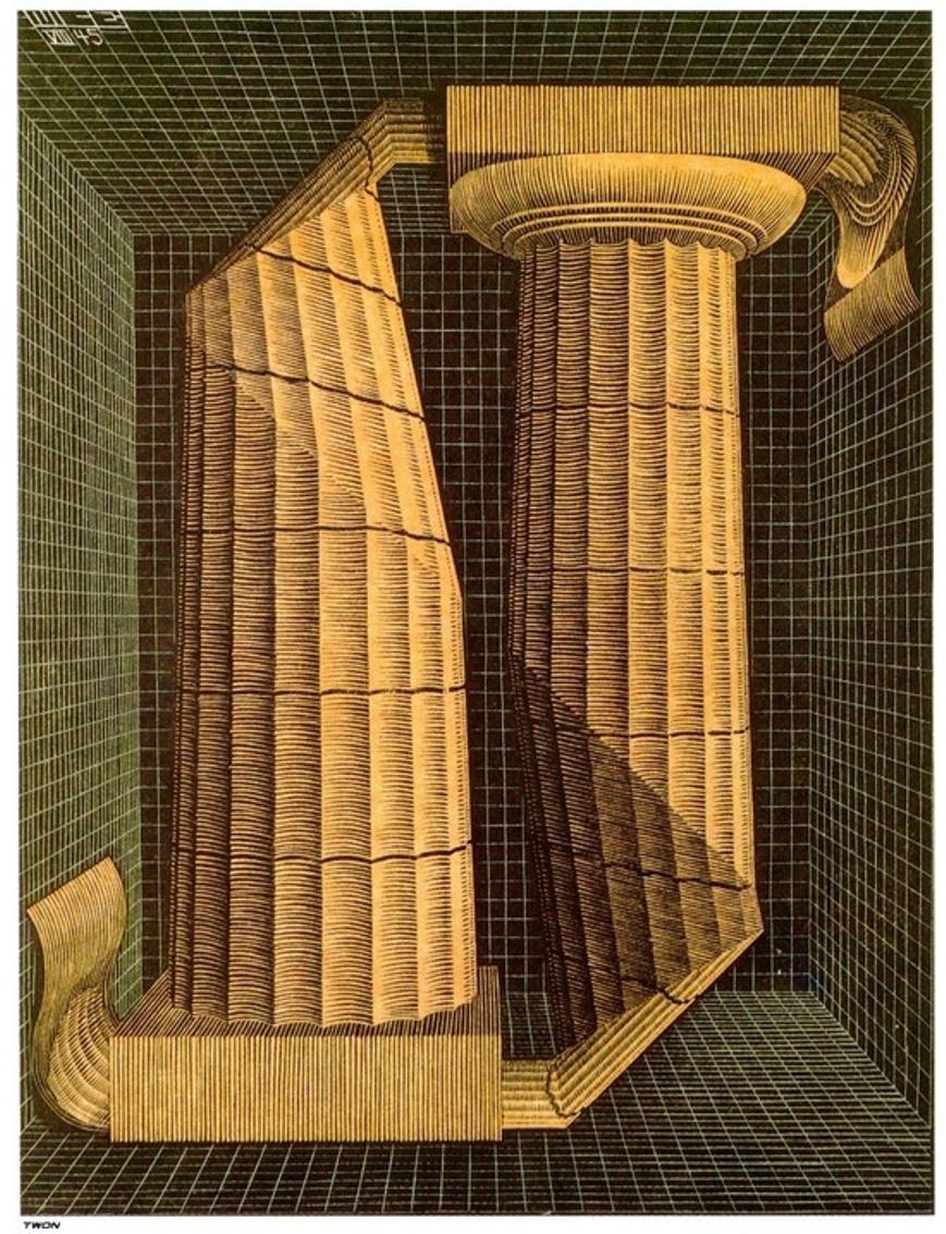Maurits Cornelis Escher. Doric columns