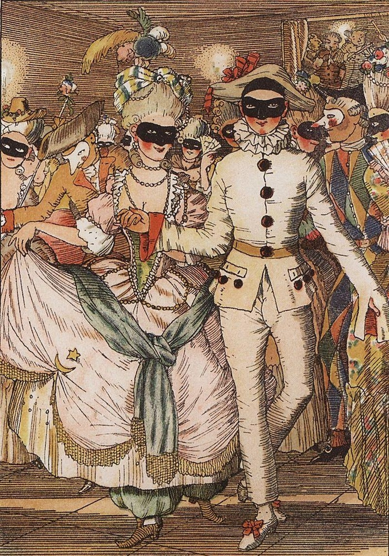 Konstantin Somov. The book of the Marquise. Illustration No. 8