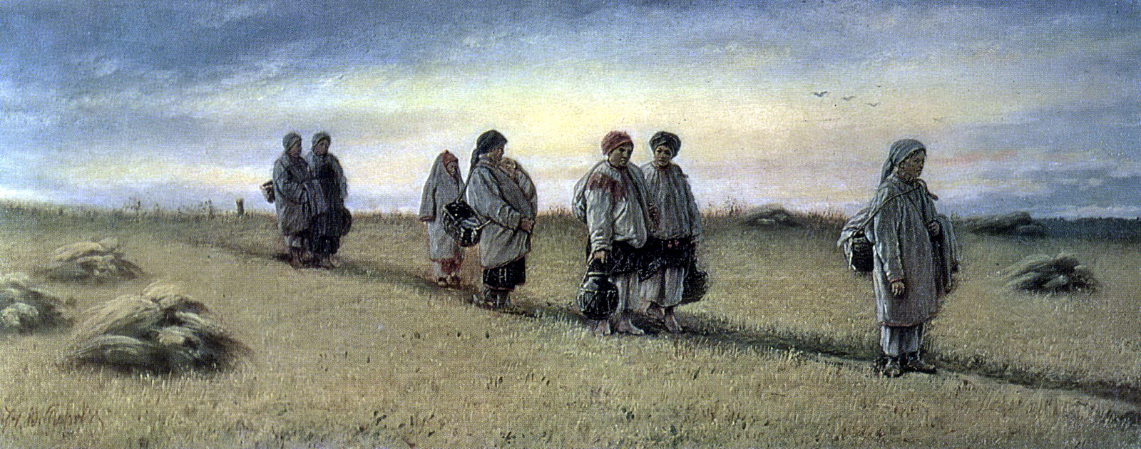 Василий Григорьевич Перов. Возвращение жниц с поля