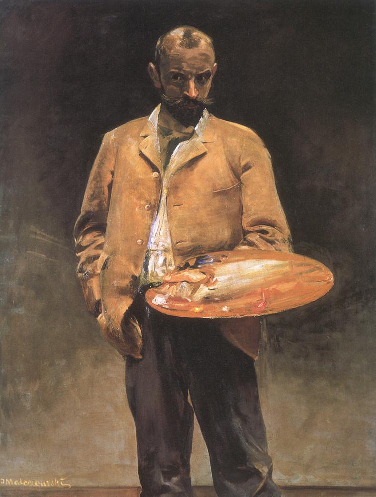 Jacek Malchevsky. Self portrait with palette