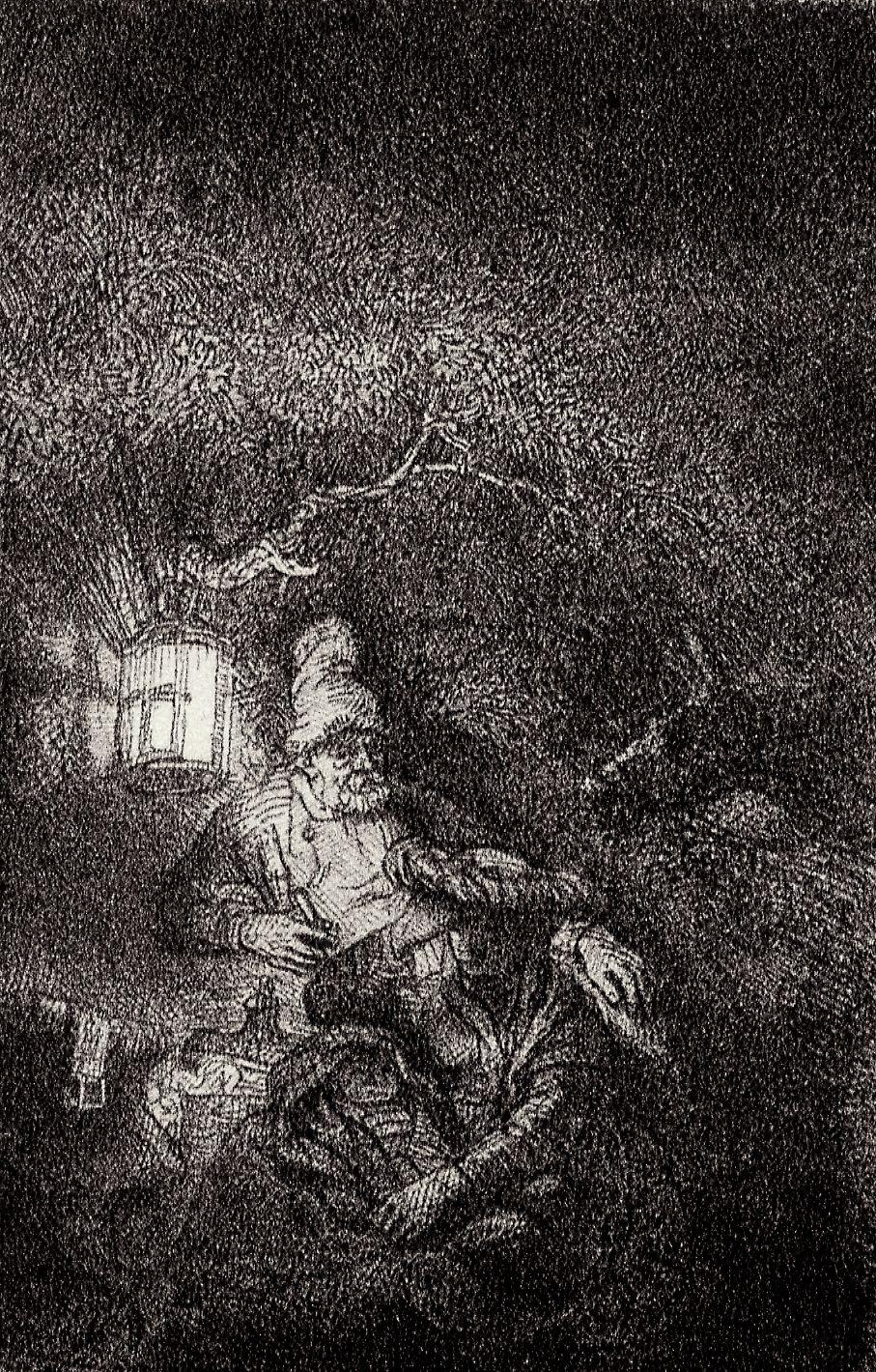 Rembrandt Harmenszoon van Rijn. Rest on the flight into Egypt