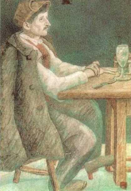 Pavel Filonov. French worker