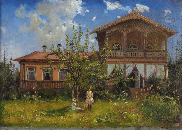 Andrei Petrovich Ryabushkin. Cottage in the estate Tyumen.