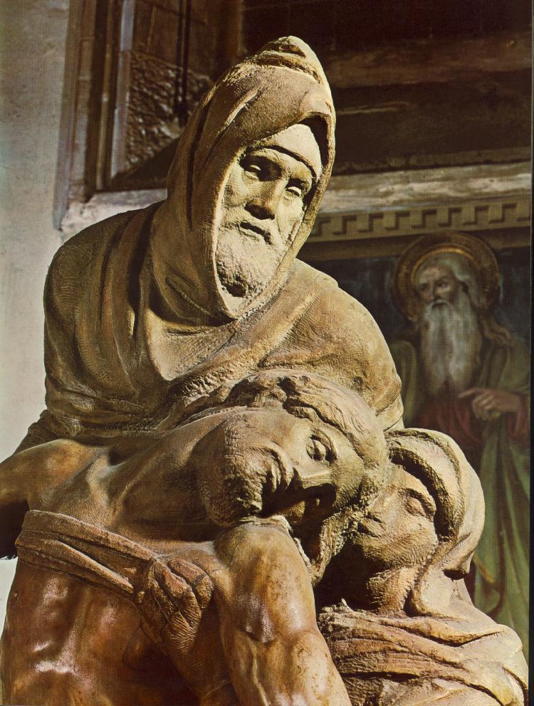 Микеланджело Буонарроти. Флорентийская Пьета. Фрагмент