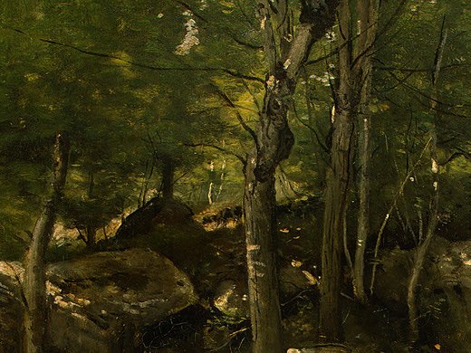 Камиль Коро. Скалы в лесу Фонтенбло
