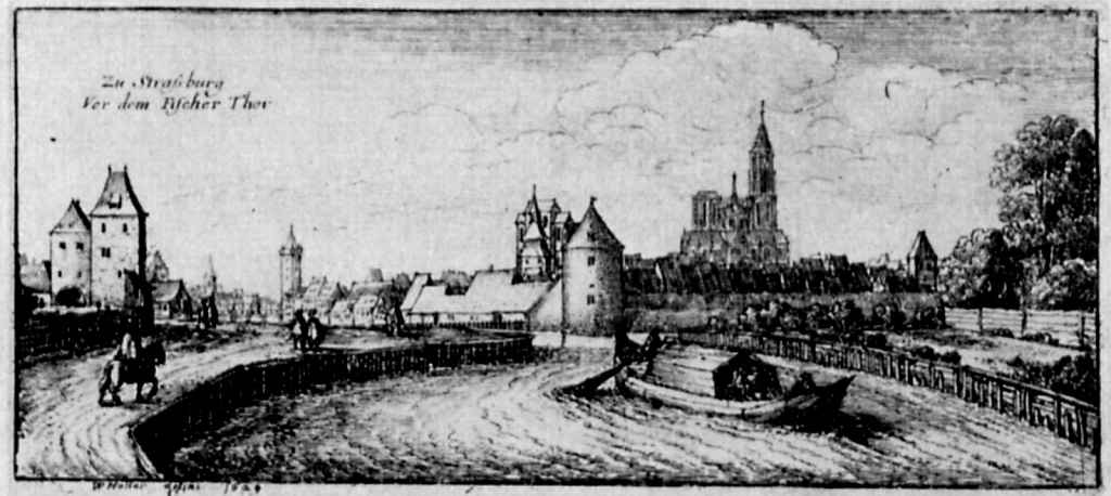 Венцель Холлар. Перед Рыбными воротами