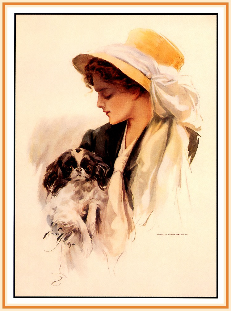 Harrison Fisher. The lady with the little dog