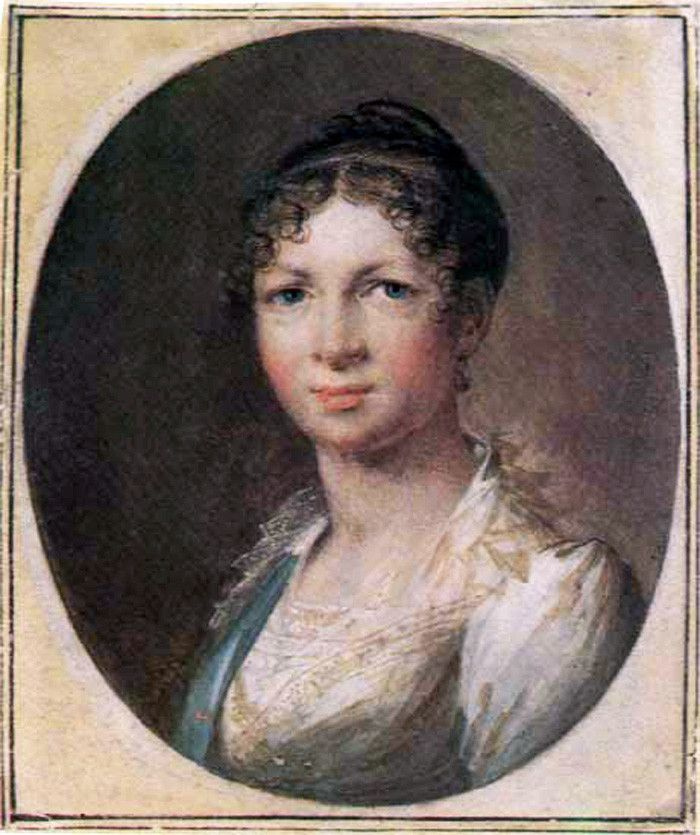 Vasily Andreevich Tropinin. Tropinin Anna (nee Katya, the artist's wife)