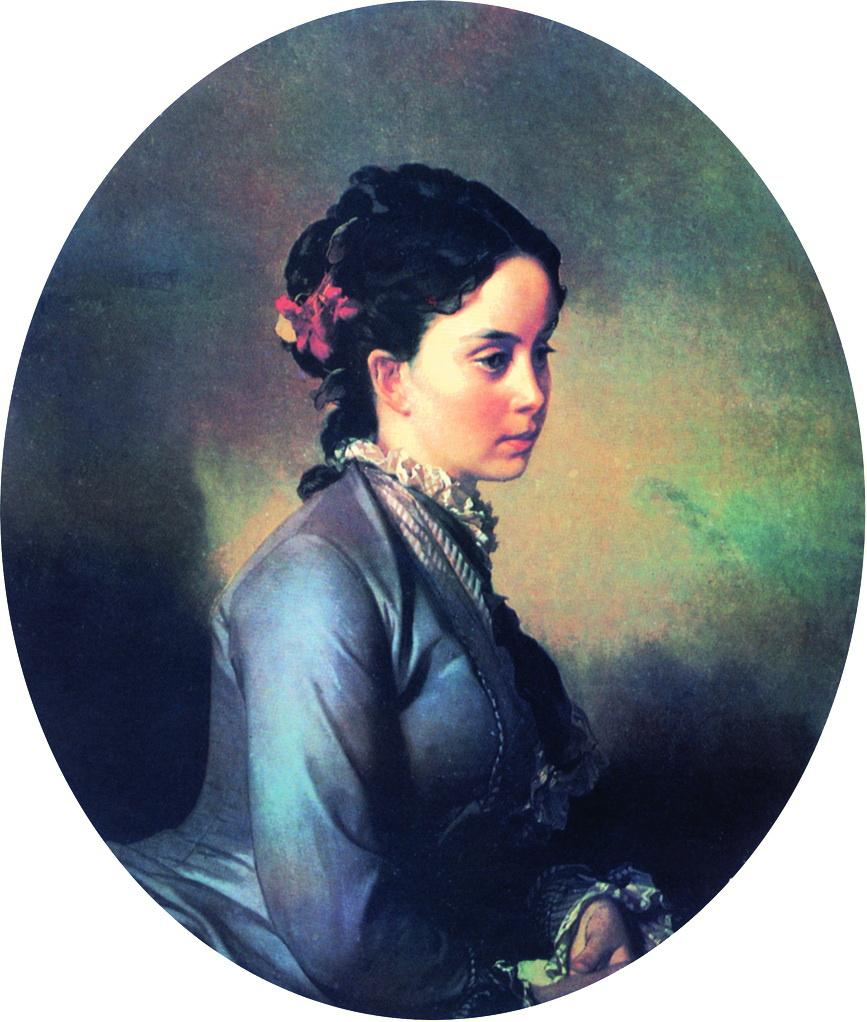 Иван Кузьмич Макаров. Женский портрет. 1880-е