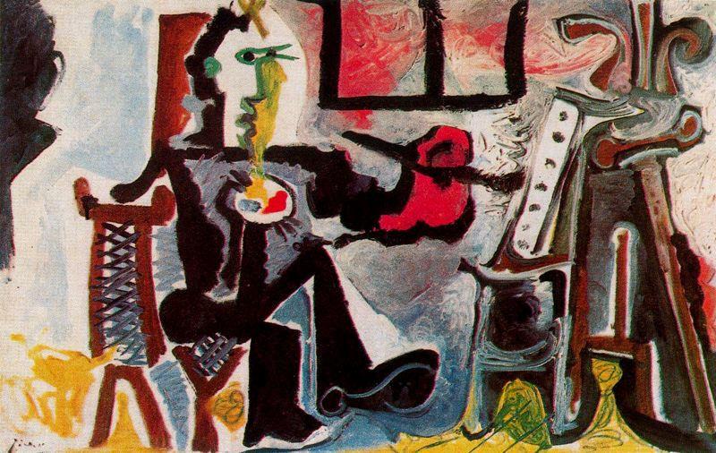 Пабло Пикассо. Художник в своей студии