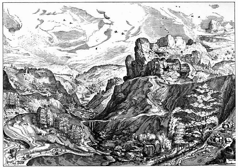 Питер Брейгель Старший. Альпийский пейзаж