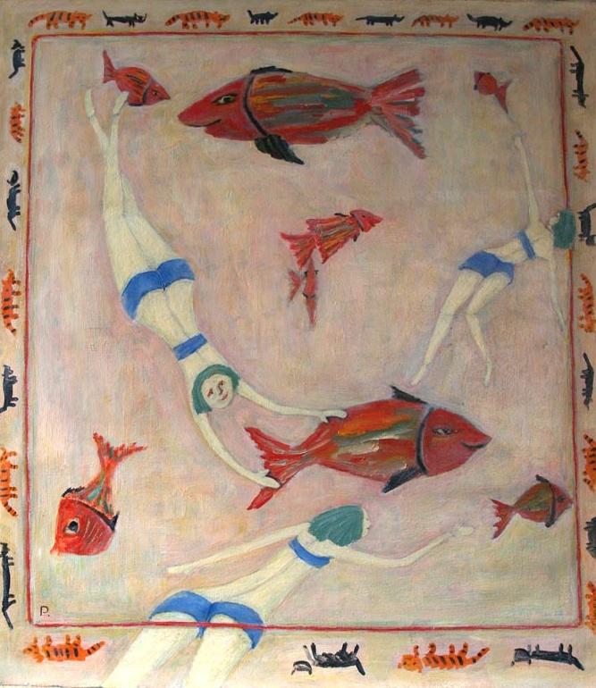 Svyatoslav Ryabkin. Girls of a small fish and seals Girls of fish and seals