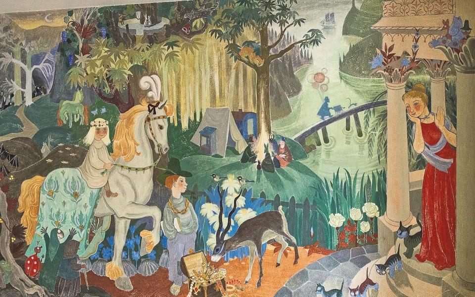 Туве Янссон. Сказочные персонажи II. Мурал в детском саду города Котки, Финляндия