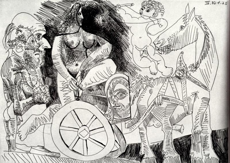 Пабло Пикассо. Сюита 347. Агамемнон и Брисей