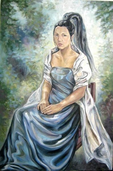 Margarita Shamilevna Usmanova. Portrait of sisters