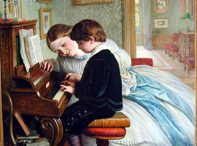 Charles West Cop. Music lesson