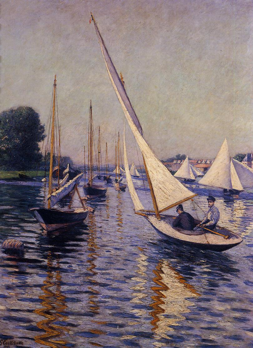 Gustave Caillebotte. Regatta at Argenteuil