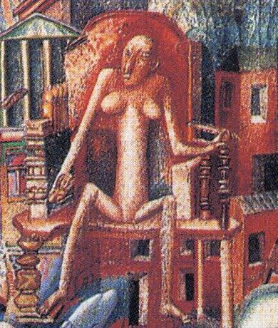 Pavel Filonov. A man and a woman. Fragment